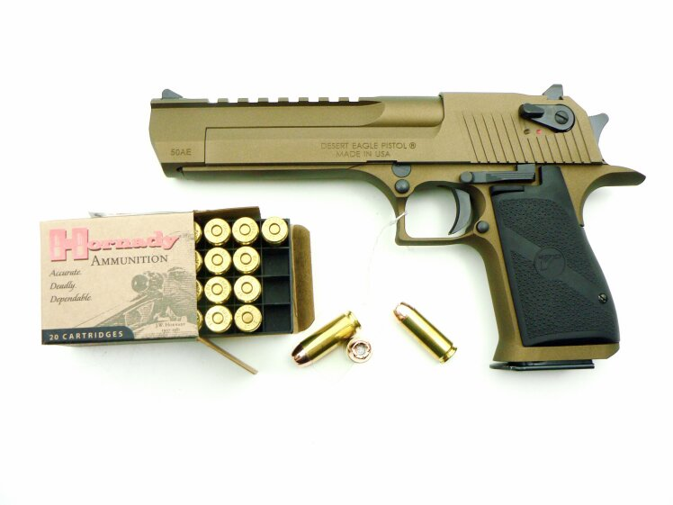 Desert Eagle USA Magnum Research Burnt Bronze, .50 Action Express - Image 1