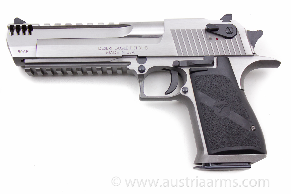 Desert Eagle XIX Stainless Steel Brushed, compensated .50 AE - Image 1
