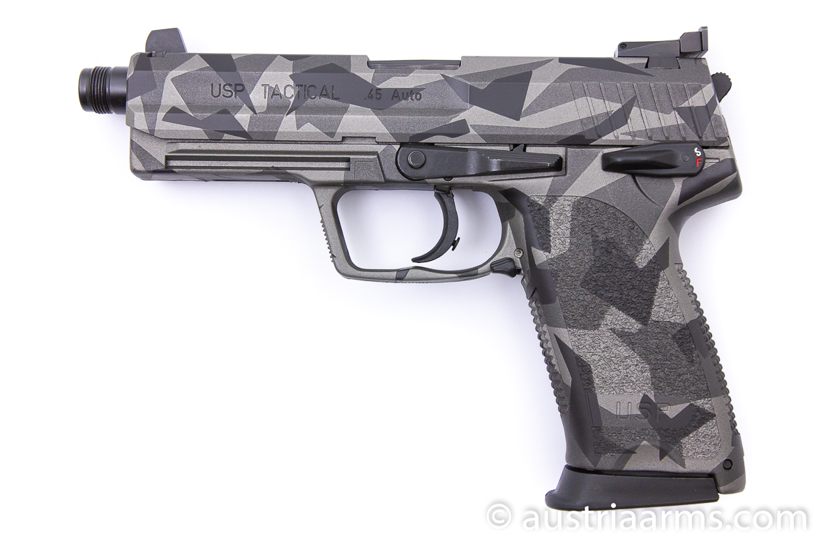 Heckler & Koch USP Tactical, Splinter Camo, .45 ACP - Image 1