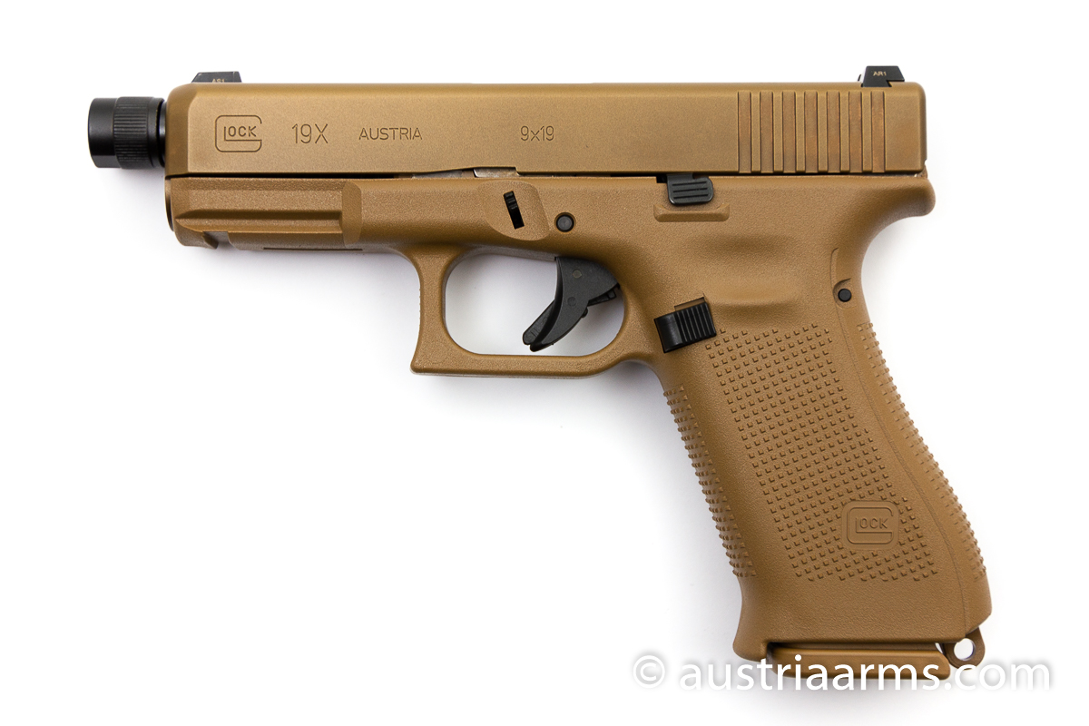 Glock 19X Tactical, Gewindelauf / threaded barrel, 9 x 19 mm - Image 1